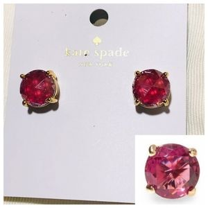 NWT! KATE SPADE Gumdrop Stud Earrings-Fuchsia